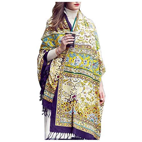 Vrouwen wol sjaal dikke sjaal dual use grote Nepalese stijl lange sjaal