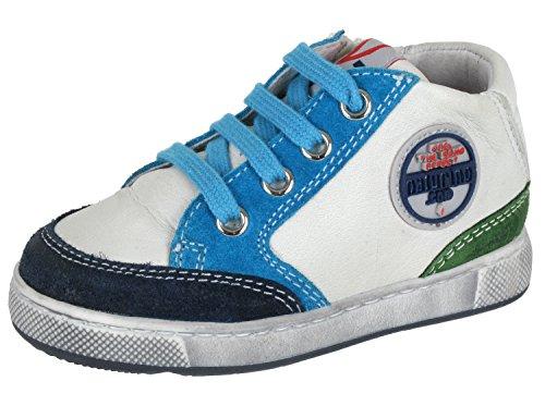 DAVID 0012009104019101 chaussures nATURINO pour garçon, Multicolore - Mehrfarbig (Navy-Bianco_Sky_Verde 9101), 21