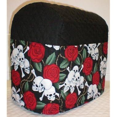 Skulls & Roses Kitchenaid Stand Mixer Cover (Black, 4.5/5qt Tilt Head)