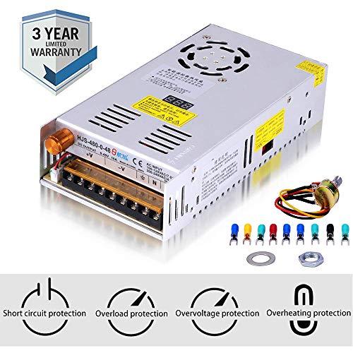 Adjustable DC Power Voltage Converter AC 110V-220V to DC 0-48V Module Switching Power Supply Digital...