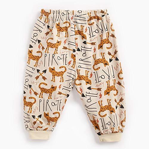 Kinderspielzeug Baby-Jungen-Mädchen-Karikatur druckte Hosen-elastische Taillen-Hosen für die beiläufige tägliche Abnutzung der Kinder BPW9118-KA Khaki Katzenhose 6-12 m