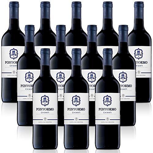 vino tinto italiano Chianti DOC Pontorno Castelli del Grevepesa Castelgreve (12 botellas cl. 37,5)