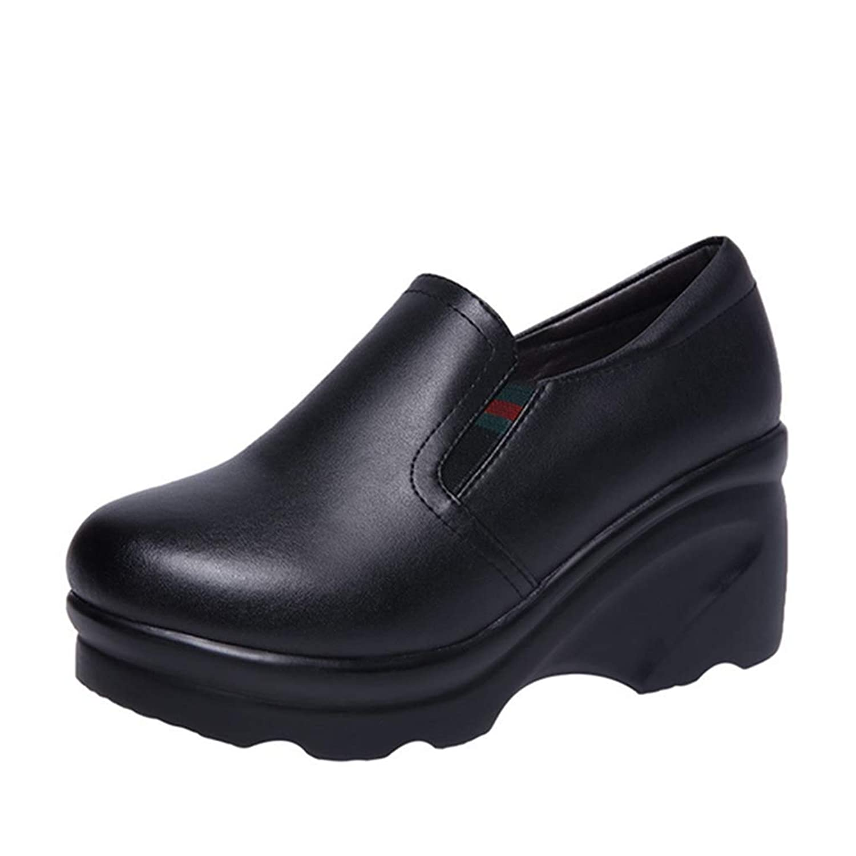 [OceanMap] スニーカー 厚底スニーカー ウェッジソール レディース 厚底靴 スリッポン かわいい ハイカット 大きいサイズ 歩きやすい 疲れない 可愛い 厚底 軽量 黒 ヒール7cm 旅行 小さいサイズ 通勤 通学 女性 おしゃれ