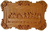 Wood Wall Decor - Last Supper Wooden Carving Sign, The Last Supper, 9'x14' Wall Hanging