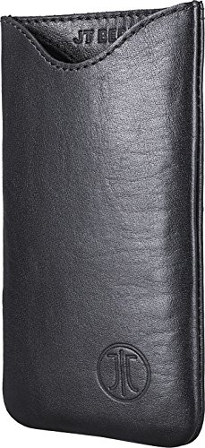 JT Berlin SlimCase Leather für Wiko Jimmy, Samsung Galaxy S4, uvm. - XL [Echtleder I Handarbeit I SlimFit Design] - 10005