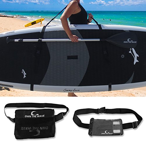 Own the Wave Deluxe SUP Paddleboard Carry Strap Choose Your Bundle