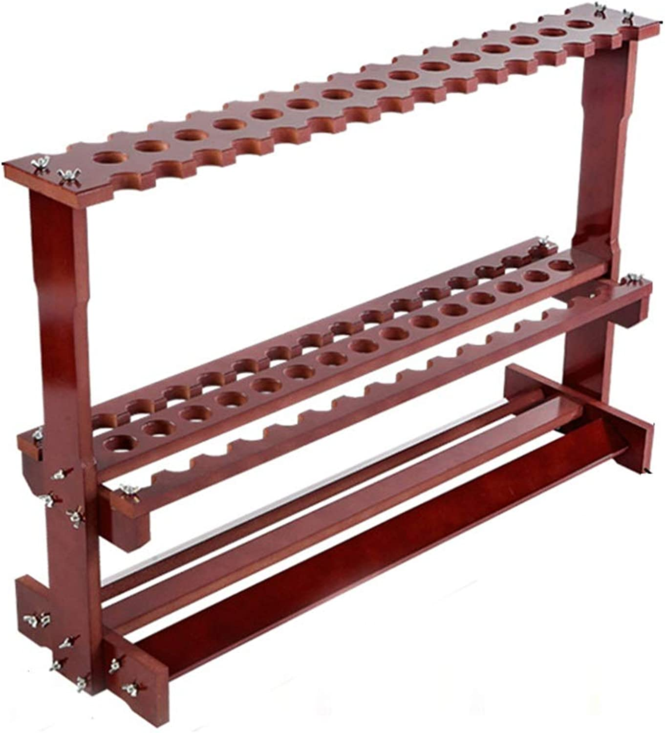 23 38 47 Fish Rod Display Stand Household Fishing Gear Storage Rack Fishing Rod Display Rack Fishing Rod Bracket (color   Brown, Size   96  28  63cm)