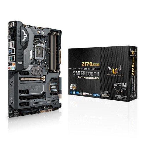 Asus Sabertooth Z170 Mark 1 Mainboard (Sockel 1151, ATX, Intel Z170, 4x DDR4-Speicher, USB 3.1, M.2 Schnittstelle)