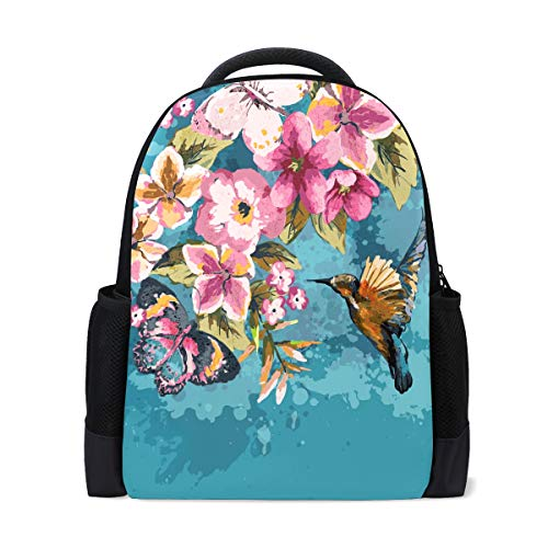 Schultasche, Kolibri, Blume, Insekt