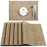 U'Artlines Placemats, Heat-Resistant Placemats Stain Resistant Anti-Skid Washable PVC Table Mats...