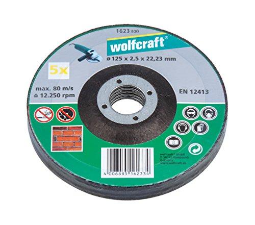 Wolfcraft 1623300 1 Sparpaket Trennscheiben Stein ø 125 x 2.5 x 22.2 mm