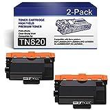 TN820 TonerCartridge CompatibleforBrother TN-820 InkCartridgeTN820 DCP-L5500DN L5600DN MFC-L6700DW L6750DW HL-L6250DW L6400DW/DWT Printers (2-Black).