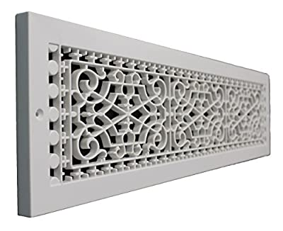 SMI Ventilation Products VBB630 Cold Air Return - 6 in x 30 in Victorian Style Base Board - Overall Dimensions 8 in x 32 in