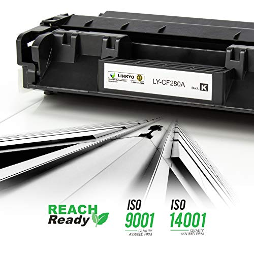 LINKYO Compatible Toner Cartridge Replacement for HP 80A CF280A (Black) Photo #6