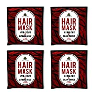 Arovatika | Natural Hair Mask of 25ml each | 4 Pack of Hibiscus and Chamomile | with Aloe Vera, Shea Butter and Almond Oil | Made with Pure Essential Oils | Paraben and Sulphate free (For Shine)