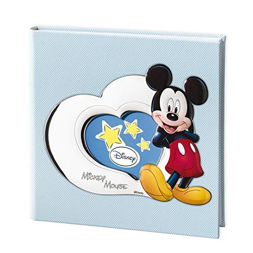 Valenti & Co - Album imprimé avec technique 3D, argenté, motif Disney Mickey Mouse, 30 x 30 cm
