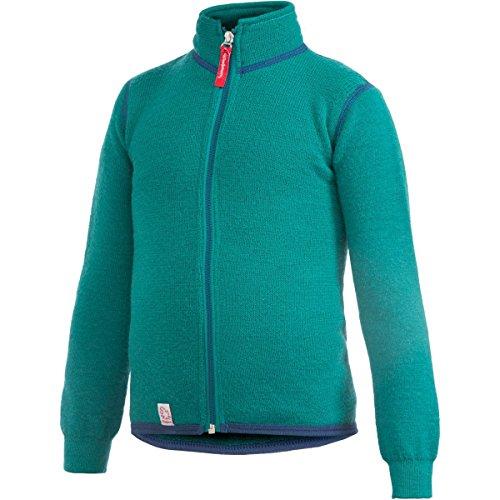 Woolpower Jungen Kid's Full Zip Jacket 400 WolljackeTürkis/Oliv 98/104