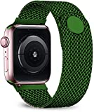 Ternzun Stainless Steel Strap for Apple Watch Band 44mm 40mm iwatch Band 38/42mm Belt Magnetic Milanese Loop Bracelet for Apple Watch Series 6 5 4 3 SE 38 or 40 mm (42 or 44 mm,Dark Green)