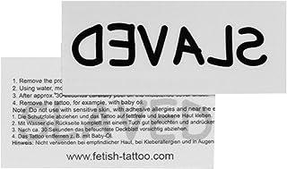 SLAVED Tattoo - Tekst in zwart - Sexy Kinky Fetisch Tattoo (2 x SLAVED Tattoo)