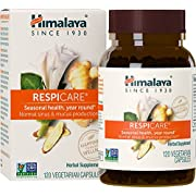 Himalaya RespiCare with Licorice and Ginger for Healthy Breathing and Sinus Support, 570mg, 120 Capsules, 1 Month Supply