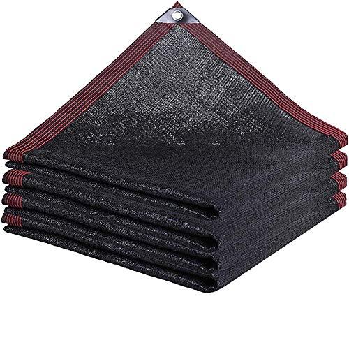 ALWUDI Malla Resistente De ProteccióN Solar, Red de sombreado Grueso cifrado Negro Telas para Toldos, para Techo de Patio, balcón carnoso, Aislamiento de Calor de automóviles sombreado Red,3x4m