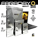 Faraday Cage EMP Bags 10pc - Military Grade, Uber Thick - Solar Flare Bags,...