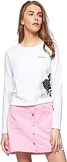 Calvin Klein Women's 2724701605-White T-Shirts