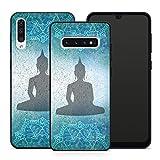 Handyhülle Goa Om für Samsung Silikon MMM Berlin Hülle Mandala Yoga Yin Yang Buddha Peace Hippie, Hüllendesign:Design 2 | Silikon Schwarz, Kompatibel mit Handy:Samsung Galaxy S9 Plus