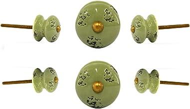 C/éramique Set of 6 Vert Trinca-Ferro Boutons en c/éramique