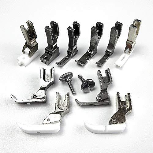 evernice Juego de 10 prensatelas de cremallera para máquina de coser industrial de una sola aguja Juki Singer