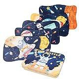BBLIKE Puzzle infantil de astronauta para niños, puzle de 5 imágenes, puzle de madera adecuado para niños y niñas a partir de 3, 4 y 5 años