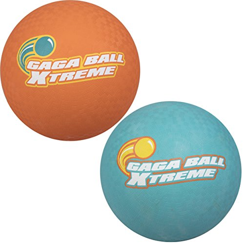 SCS Direct Gaga Playground Balls 2pk (8.5 inches) - Durable Rubber, Lightweight and Great for Dodgeball, Kickball, Gagaball Official Play
