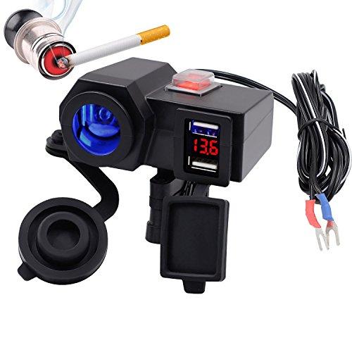 Caricatore con presa USB, impermeabile, per manubrio della moto