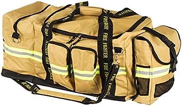 Fireflex Firefighter XXL Turnout Gear Bag Gold