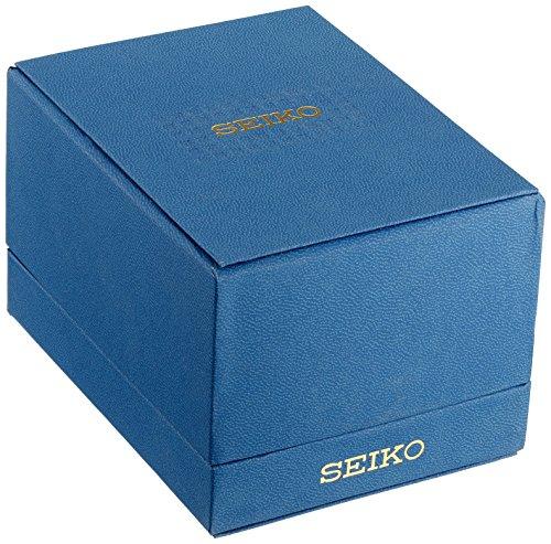 Seiko Homme 'chronographe à Quartz' Doré et Cuir Noir Dress Montre (modèle: Ssc448)