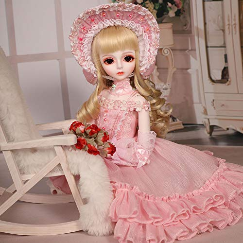 HGFDSA BJD Dolls 1/4 SD Doll 15.7Inch 40Cm Ball Jointed Doll DIY Toys with Full Set Clothes Shoes Wig Makeup, Best Gift for Child