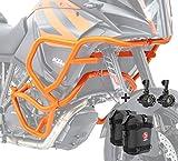 Set Defensas + Faro Adicional para KTM 1290 Super Adventure 15-16 Naranja + K3