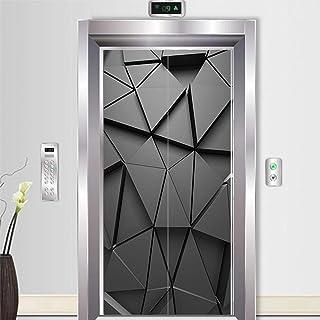Décoration De La Maison Autocollants De Porte 3D Décoration Noire