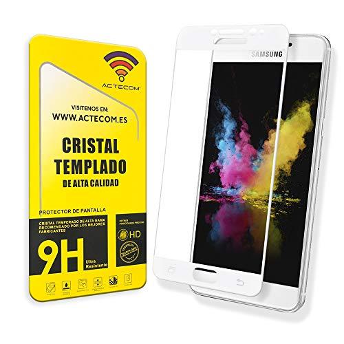 actecom® Protector Pantalla Completa 3D 5D Blanco Cristal Templado Compatible con Samsung...