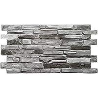 Paneles de pared de plástico PVC 3D decorativos revestimientos – gris nuevo, gris