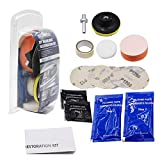 LAFORMO DIY Headlight Restoration Kit - Heavy Duty Headlight Restore Wipe Headlight Washer Kit - Headlamp Brightener Car Care Repair kit Head Lense Clean