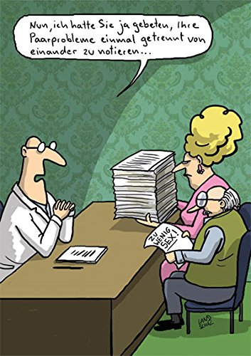 Postkarte A6 • 64226 ''Paarprobleme'' von Inkognito • Künstler: Dorthe Landschulz • Satire • Cartoons
