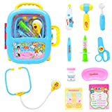 SLONG Sound and Light Children Simulation Stethoskop Play Doctor Toy Trolley Gepäck Suitcase Medicine Cabinet, Blue