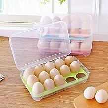 HUICHEN Refrigerator Food Storage Container Kitchen Storage Box Drawer Space-Saving Eggs (Color : Green)
