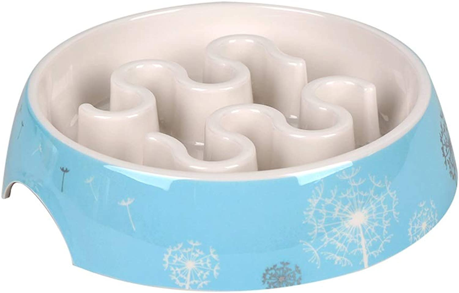 AntiGulping Dog Bowl Slow Feeder,Porcelain Pet Bowl,Feeding Stations,for Dogs Cats and Pets,Interactive Bloat Stop Pet Bowl for Fast Eaters (color   C)