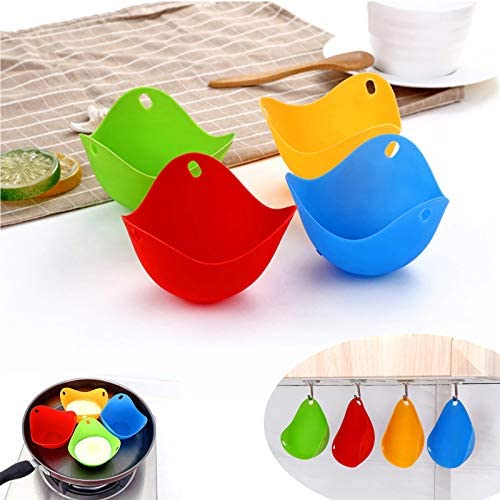 4pcs Silicone Egg Poacher Silicone Egg Poaching Cups Poaching Pods Egg Mold Bowl Microwave or product image