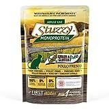 Stuzzy, Comida húmeda para Gatos Adultos, Sabor Pollo Fresco, paté monoproteínico sin Trigo ni Gluten - Total 1,36 kg (16 Sobres x 85 gr)