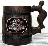 Dungeon Master Beer Mug. Dungeon and Dragons Mug. Dungeon Master Stein. D&D Gift. Wooden Beer Stein. Best Gift. Wooden Beer Mug. Wood Beer Mug Gamer Gift Beer Tankard K145
