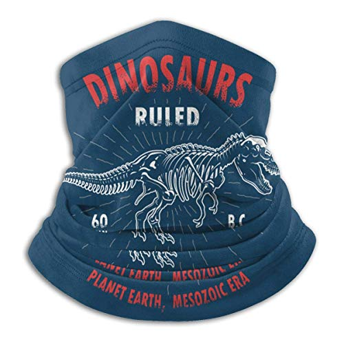 Neck Warmer T Rex Skeleton Dinosaur Neck Warmer Windproof Balaclava Fleece Hood Free UV Winter Hats