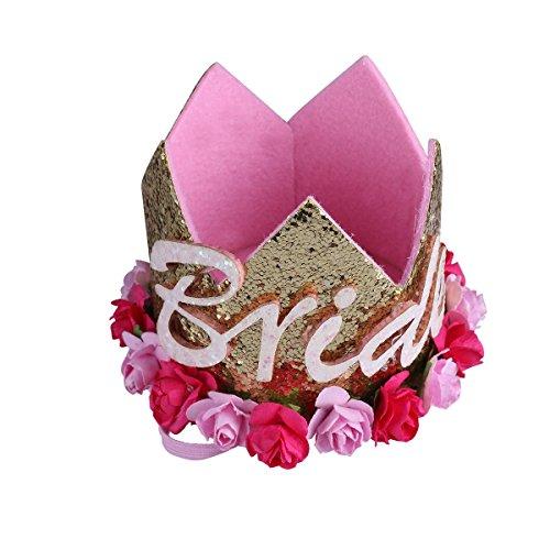 TiaoBug Bandeau Enfant Fille Garçcon Bandeau Princesss Prince Couronne Royale Tiara Diadème Anniversaire Mariage Bandeau Mariée Coiffure Or Taille Unique
